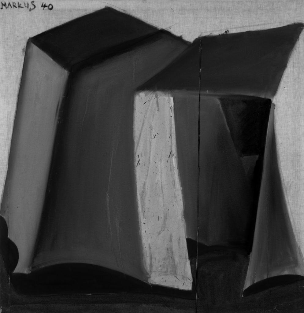 马库斯•吕佩尔茨《帐篷 40—<span class='openp'>—</span>狂热主义》1965。马塞尔•沃那画廊,Märkisch Wilmersdorf,纽约,伦敦。Markus Lüpertz, Zelt 40 – dithyrambisch, 1965. Michael Werner Gallery, Märkisch Wilmersdorf, New York and London.