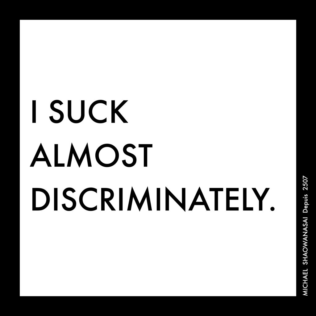 Michael Shaowanasai, I Suck Almost Discriminately, 2015, Digital image. 《我几乎不分种族地吸吮》,2015,数字图像,迈克尔•绍瓦那塞。