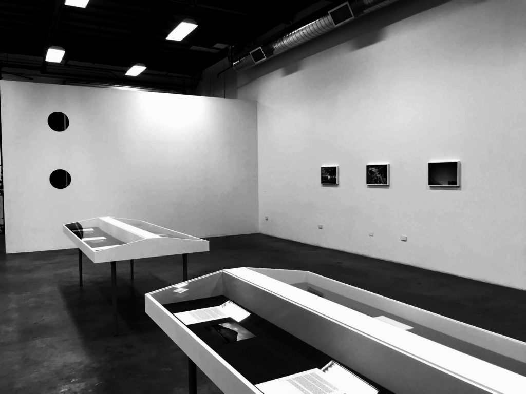 Installation of Julien Bismuth, Steganograms, The Box, Los Angeles 朱利恩·比斯姆士《密码》,装置,洛杉矶盒子画廊