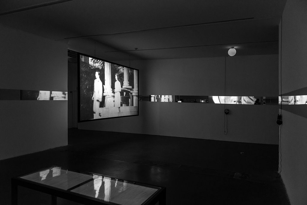 Li Ran, Night of Patmos ( left ), single channel HD video, black and white, sound, 20 min, 2017. Still courtesy UCCA. 李然,《拔摩岛的夜》,单通道有声黑白高清影像,尺寸