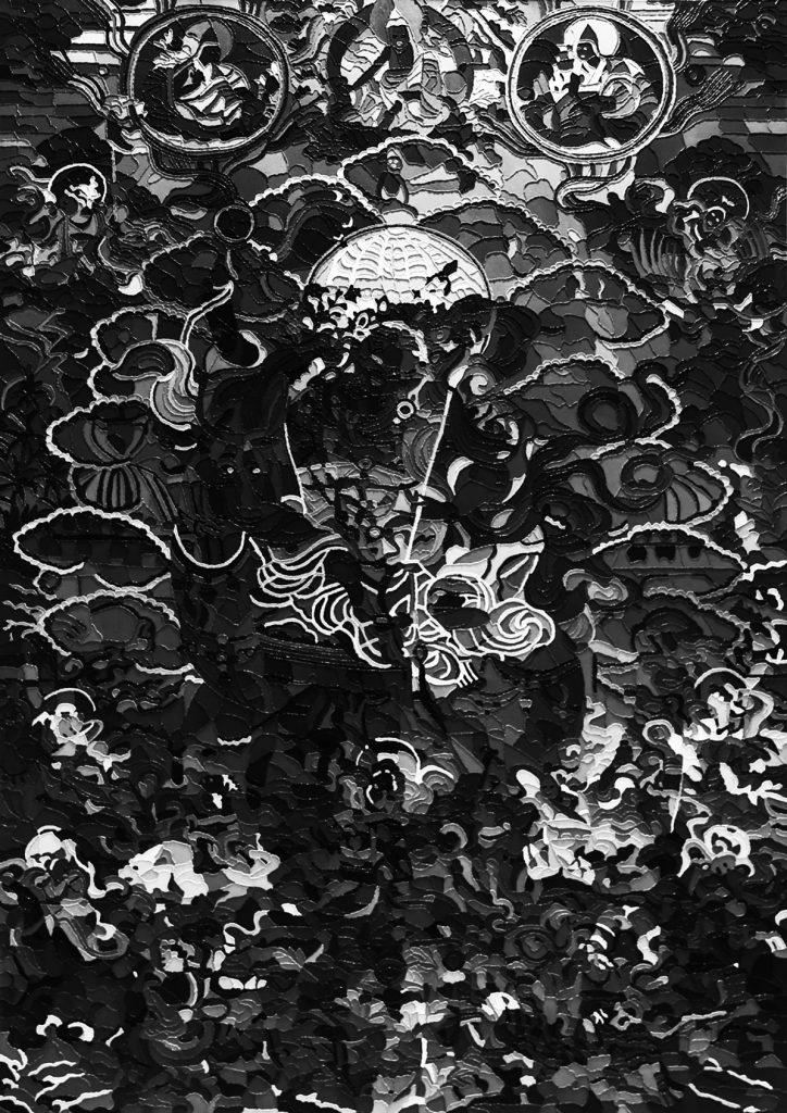 Zheng Guogu, Ultraviolet Visionary Transformation No. 2, 2014–15, C-print, 208 × 147 cm. © reproduction and photography: Zheng Guogu. 郑国谷,《紫外线幻化2号》,布面油画,208x147 厘米,2014-2015,复制权&摄影版权:郑国谷。